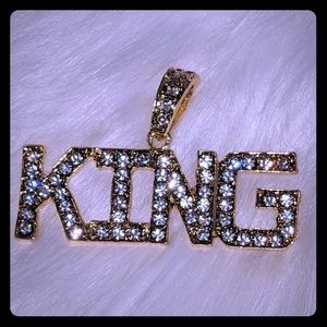 Other - Hip Hop Iced Out Gold Plated King Pendant